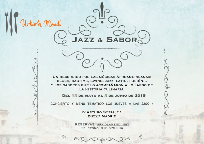 Cartel Jazz y sabor